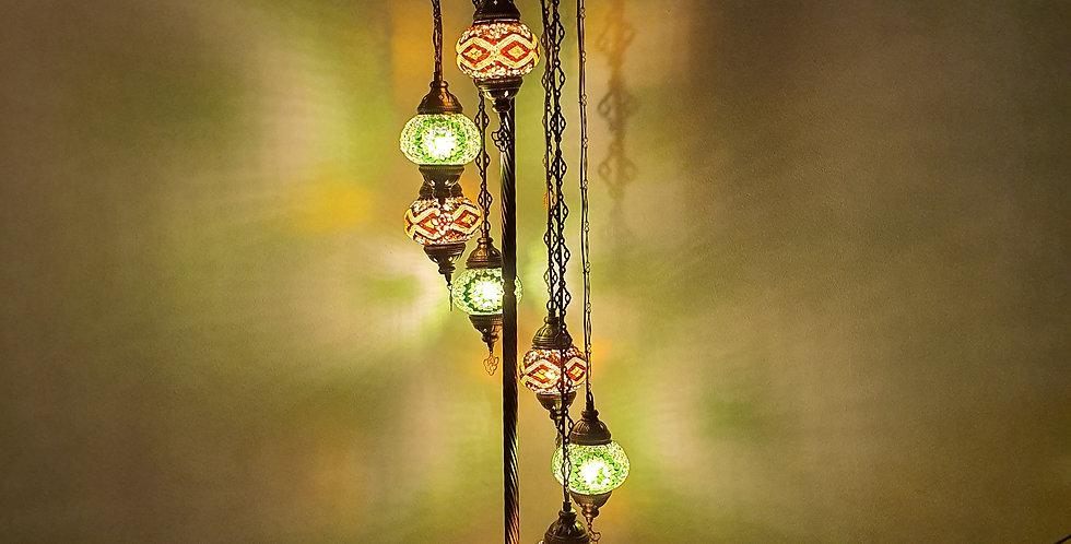 Lámpara de pie con 7 globos del tamaño 2