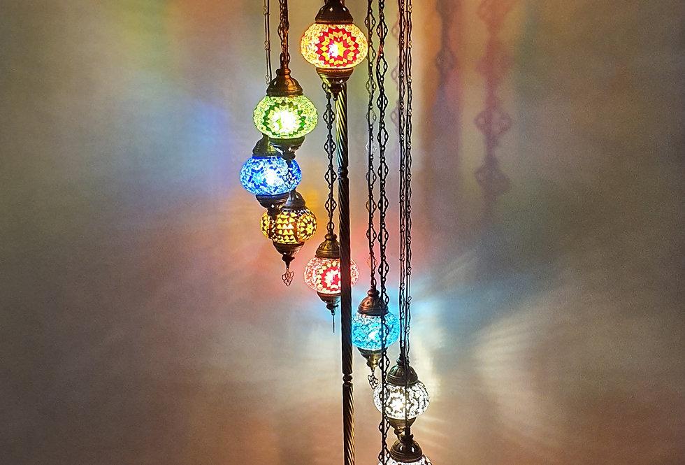 Lámpara turca de pie 9 bolas tamaño 2