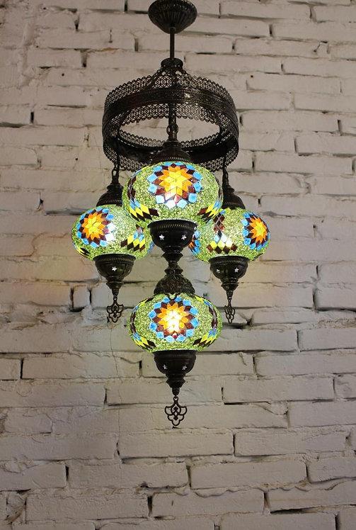 Lámpara turca techo 4 bolas