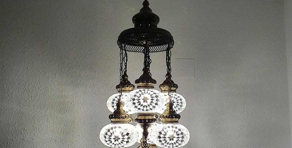 Lámpara turca de techo- globos de 13 cm y 16 cm