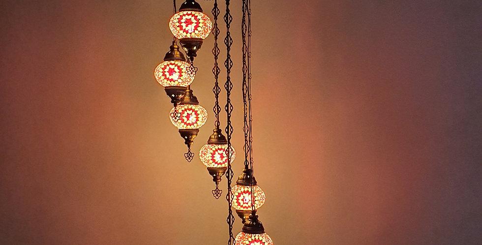 Lámpara turca techo con 7 bolas