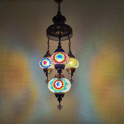 Lámpara turca de techo 4 bolas