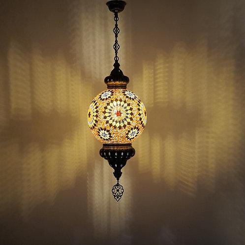 Lámpara turca de techo con globo de 25cm
