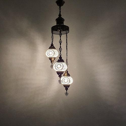 Lámpara turca techo 3 bolas tamaño 2