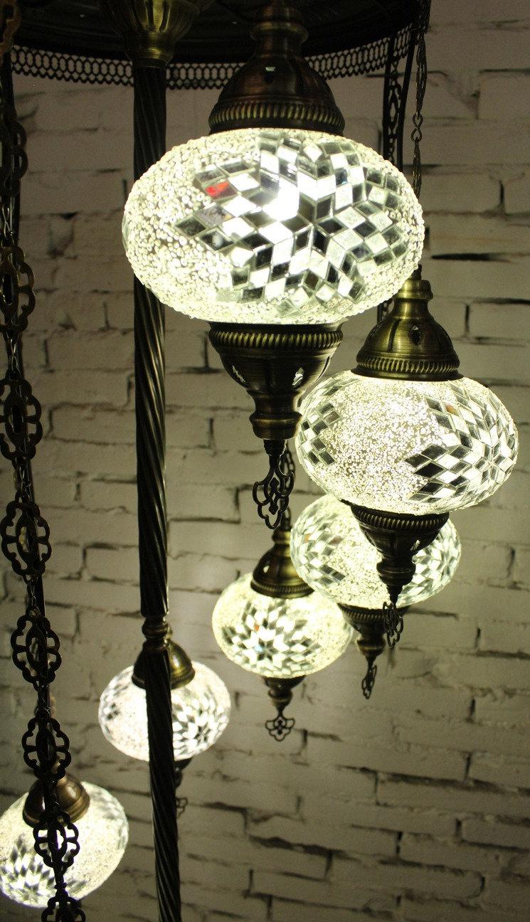 de 9 Lámpara tamaño turca 3 pie bolas fIYv76mbgy