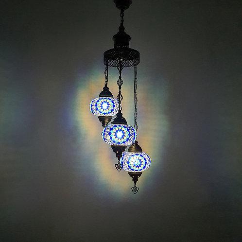 Lámpara turca techo 3 bolas tamaño 3
