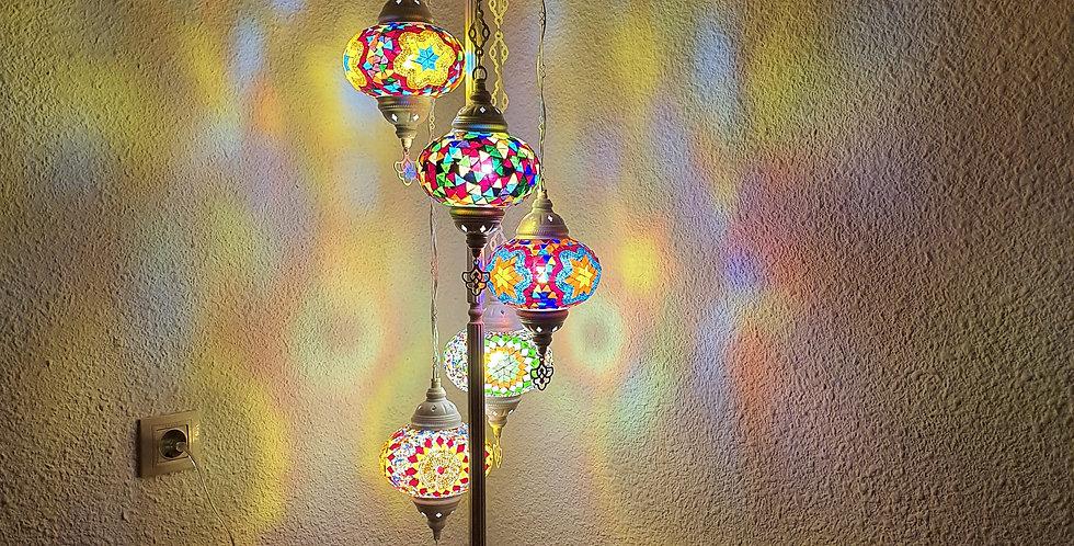 Lámpara turca de pie 5 globos