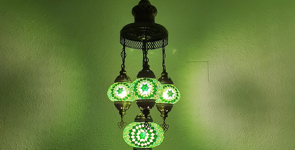 Lámpara turca de techo con 4 globos