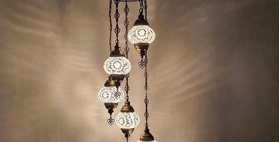Lámpara turca de techo - globos de 13cm