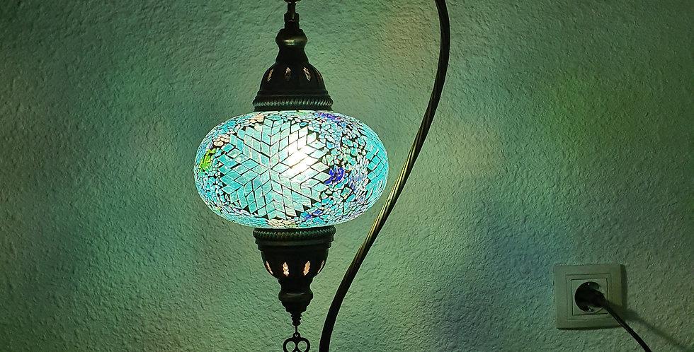 Lámpara turca de mesa con arco, globo 17cm
