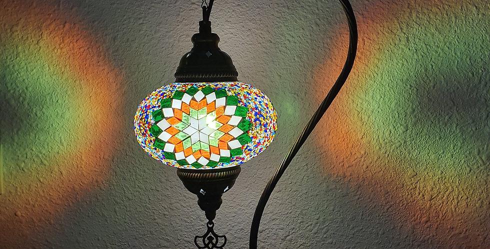Lámpara turca de mesa con arco, globo 16 cm