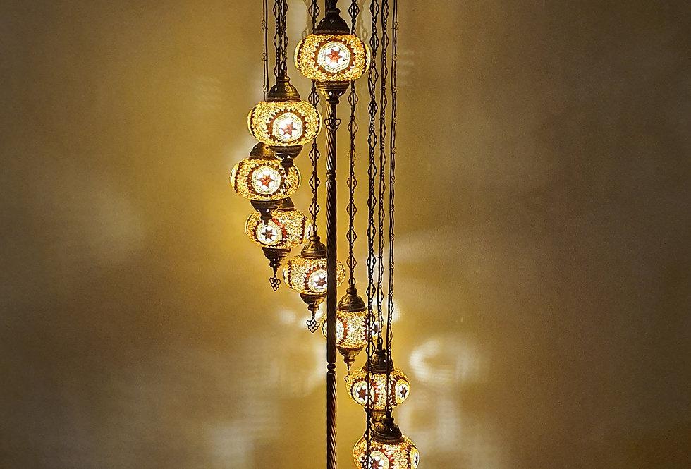 Lámpara turca de pie 9 bolas tamaño 3