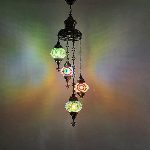 Lámpara turca de techo con 4 bolas