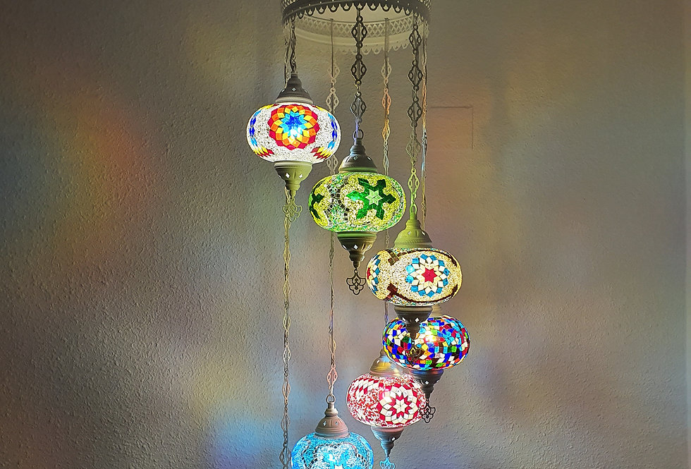Lámpara turca de techo - globos de 18cm