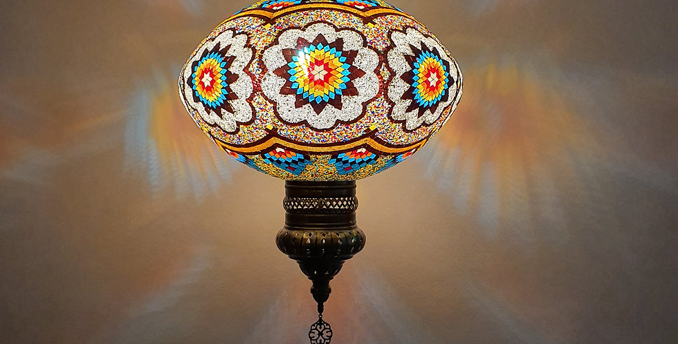 Lámpara turca de techo - globo de 60 cm