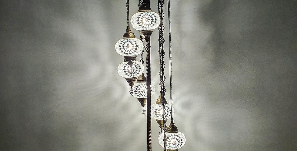 Lámpara de pie con 7 globos del tamaño 3