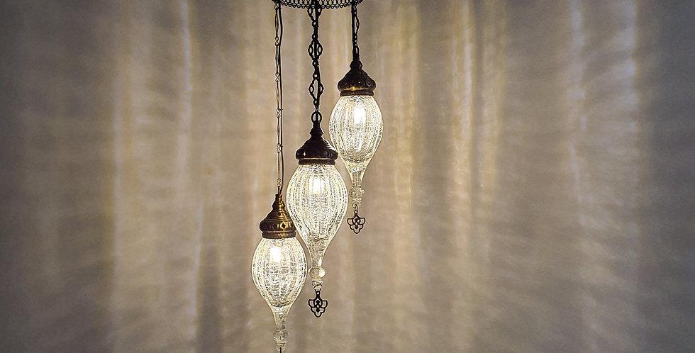 Lámpara estilo arabe vidrio soplado