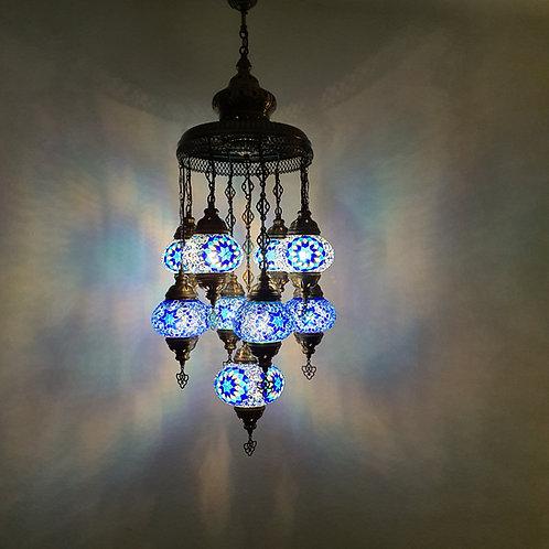 Lámpara árabe techo con 9 bolas