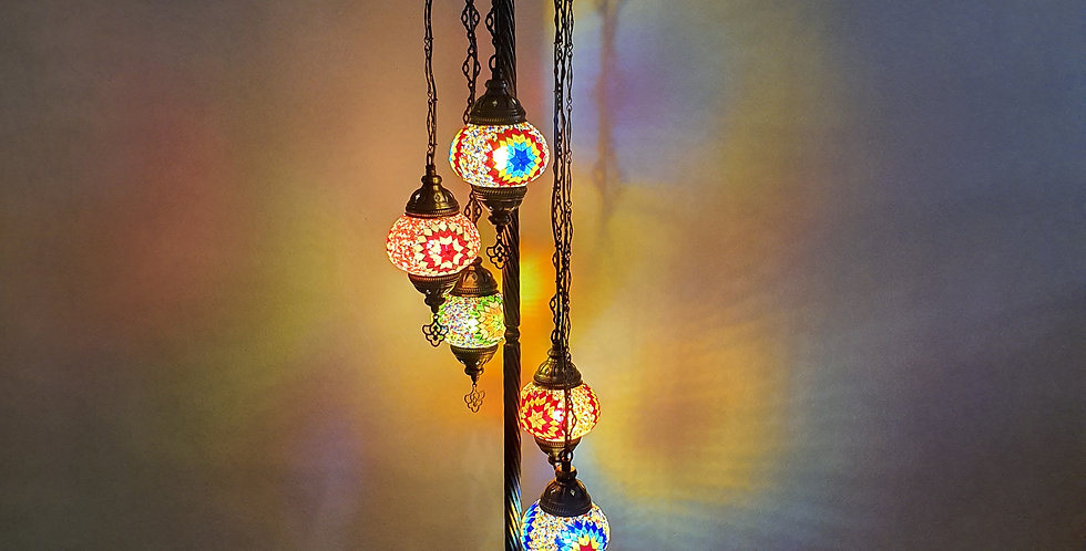 Lámpara turca de pie 3 bolas tamaño 2