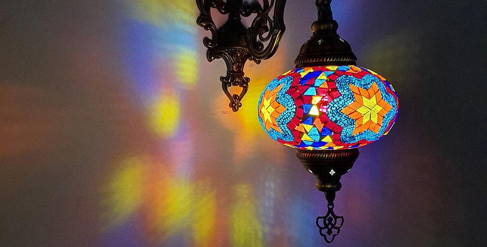 Lámpara turca de pared, globo 16 cm