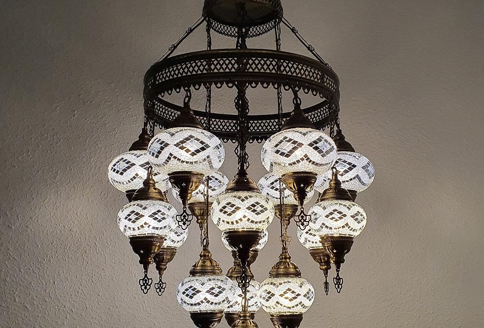 Lámpara turca de techo - globos de 13 cm y 16 cm
