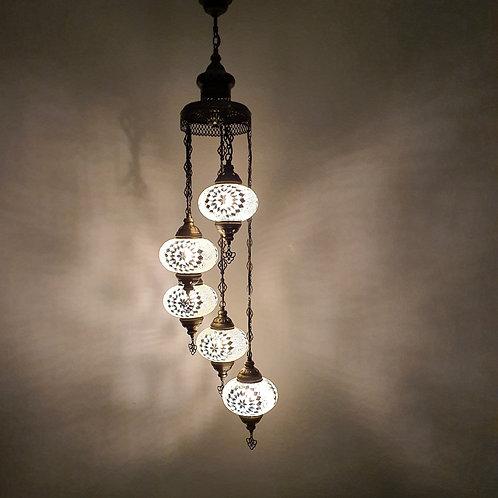 Lámpara árabe techo 5 bolas tamaño 3