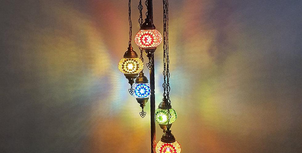 Lámpara turca de pie 5 bolas tamaño 2