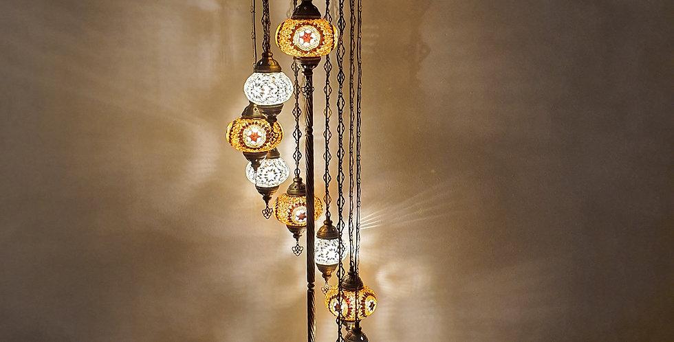 Lámpara turca de pie 9 bolas tamaño 2 y 3