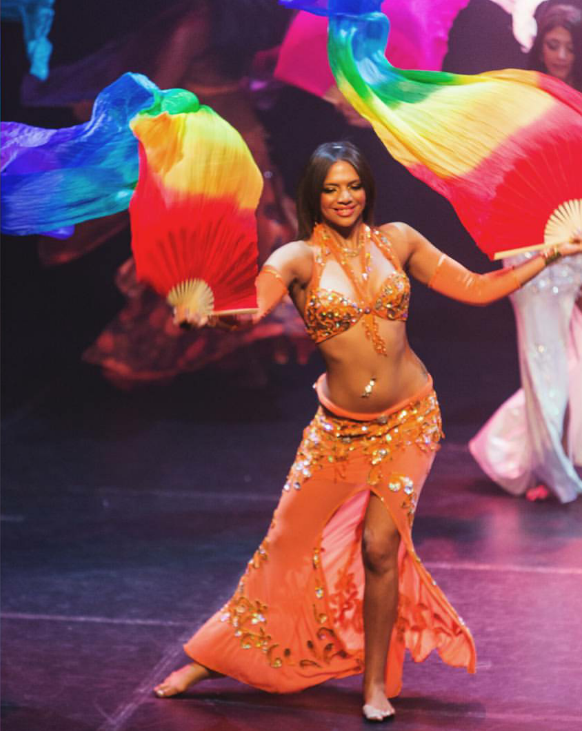 Cherri Fan Veils Belly Dance