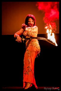 Cherri Fire Sword Belly Dance