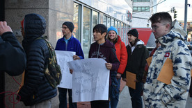 Purchase Students March on Local Representatives Office to Voice Support for Green New Deal