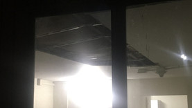 Roof Caves in, Residents Move Out