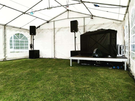 Marquee, Sound and Light Packages – For Summer Gatherings