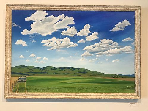 "Devo Goldschmidt -""Camas Prairie East"" (Original 24"" x 36"")"
