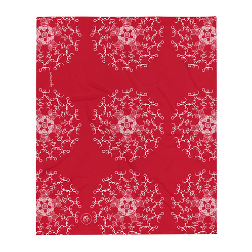 drum, iquinani throw, red