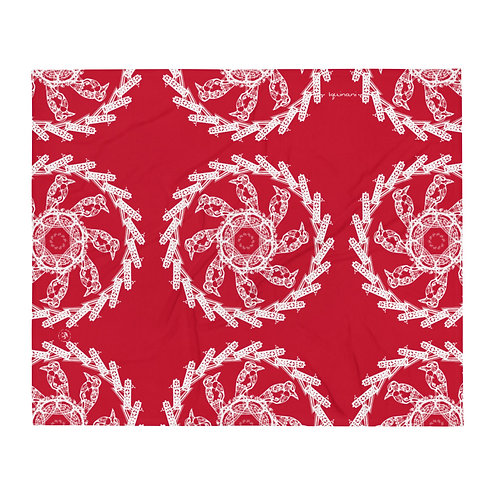 immersion, iquinani throw, red