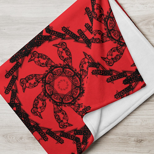 Immersion, iquinani, Throw Blanket red and black