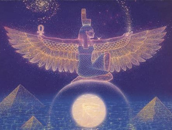 Great Mother Isis from the Athena Lightship- Diamond Crystalline Lightbody