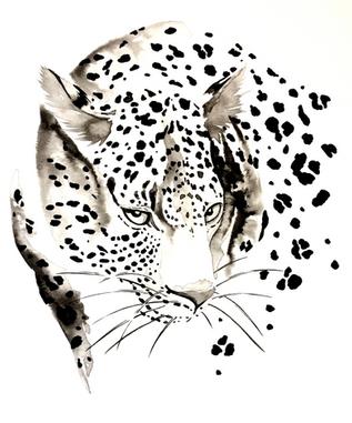 Leopard - Ink