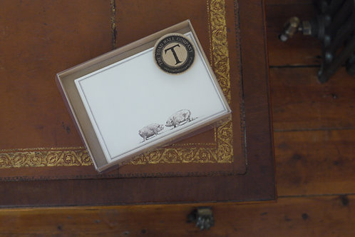 Correspondence card - Pig