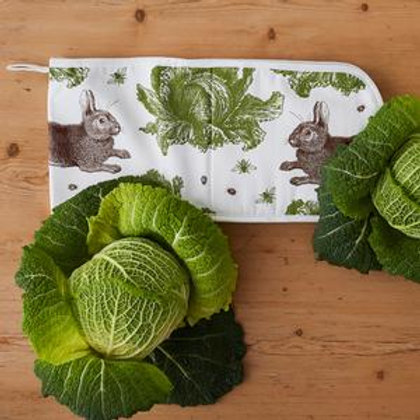 Oven Gloves-Classic Rabbit & Cabbage