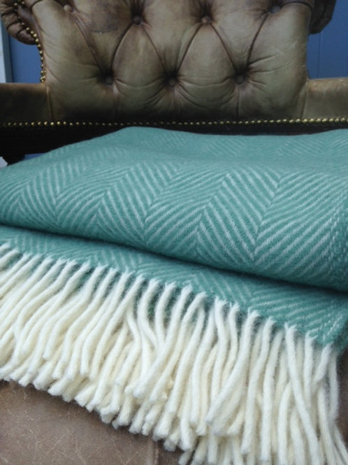 Sea Green- Pure Wool Throw