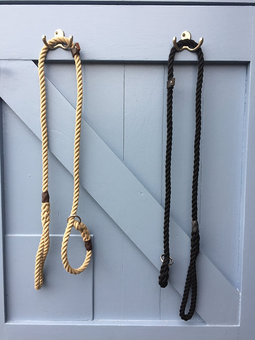Slip lead 12mm with Leather stop