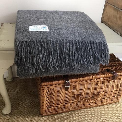 Slate Wafer Pure Wool Throw