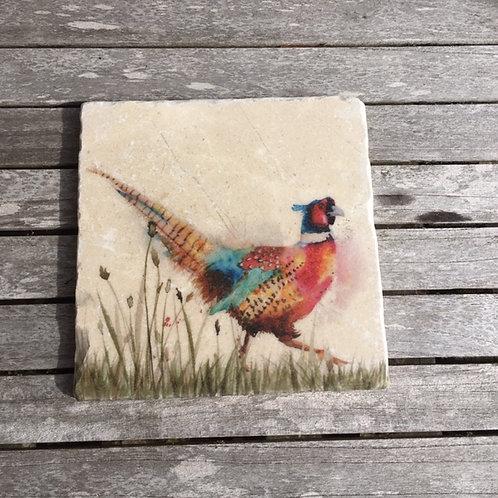 Pheasant - Marble Coasters