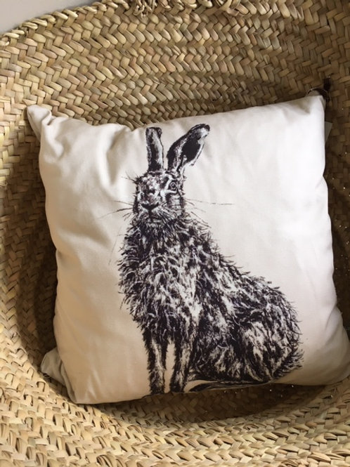 Hare & Partridge Cushion Cover