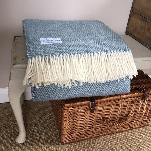 Petrol Blue- Pure Wool Throw
