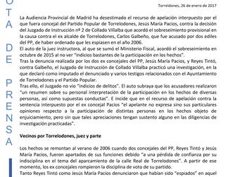 La Audiencia Provincial de Madrid archiva las acusaciones contra el ex alcalde de Torrelodones