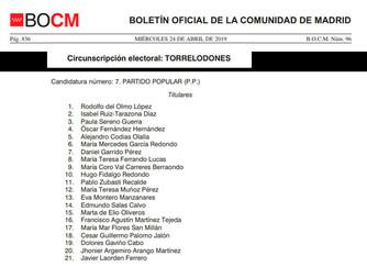 Candidatura Partido Popular Torrelodones