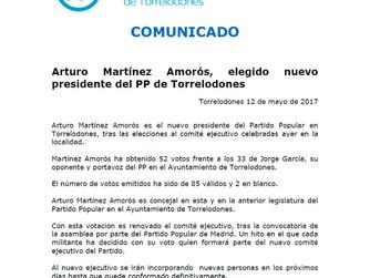 Arturo Martínez Amorós, elegido nuevo presidente del PP de Torrelodones